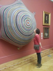 Big Crocheted Boob at Manchester Art Gallery